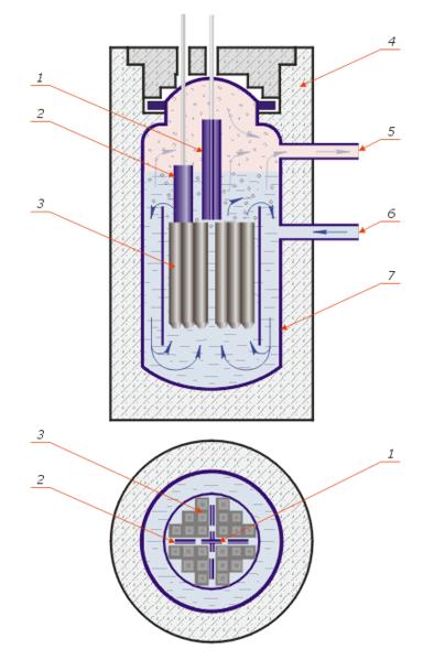 Схема реактора WBR